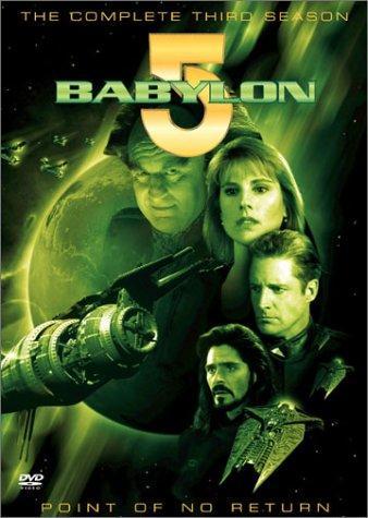 Bruce Boxleitner, Jason Carter, Peter Jurasik, and Patricia Tallman in Babylon 5 (1993)