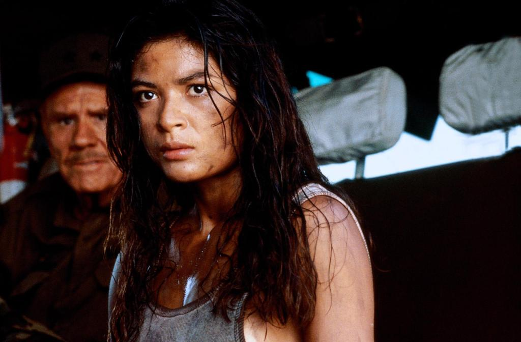 Elpidia Carrillo and R.G. Armstrong in Predator (1987)