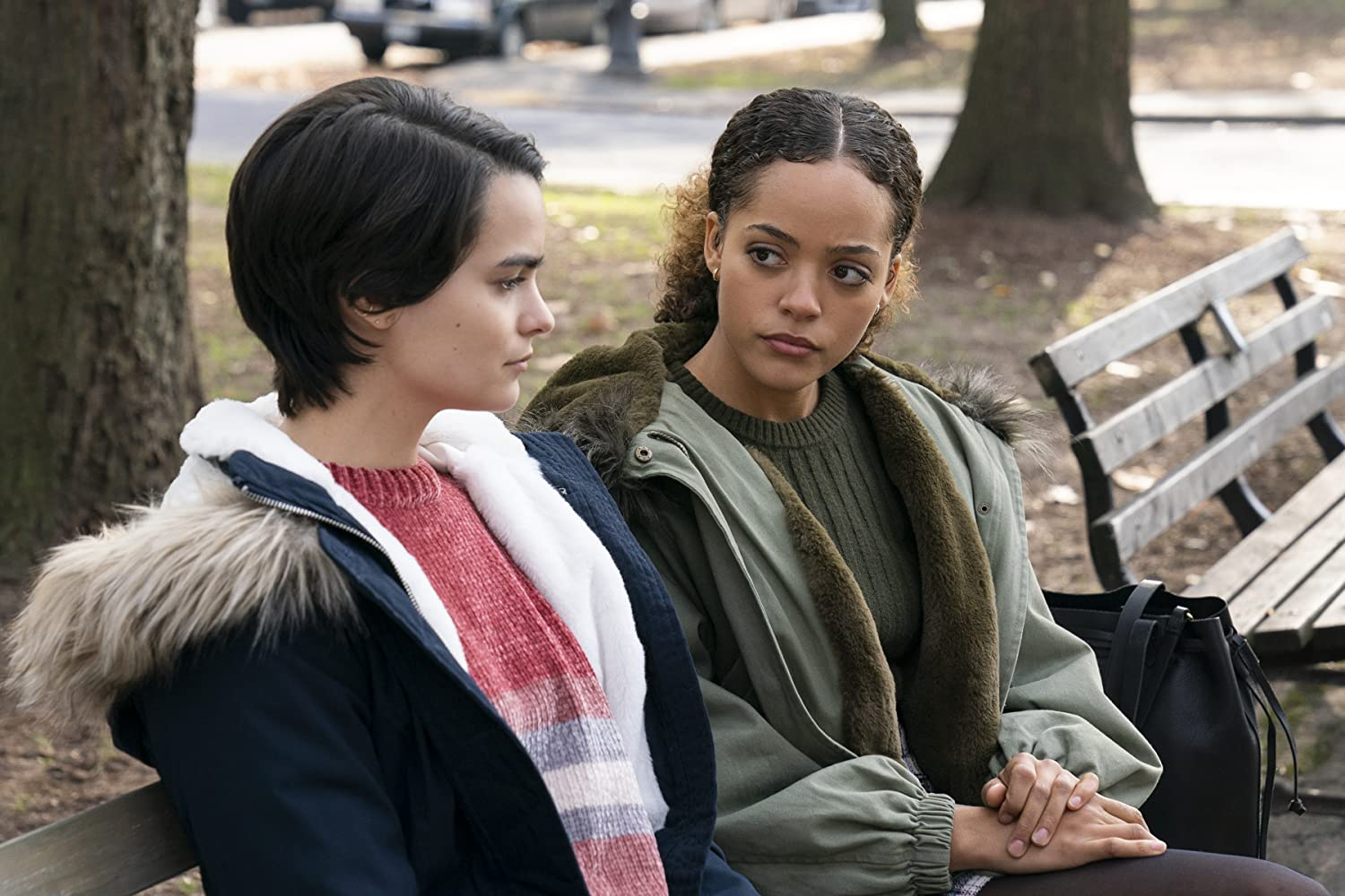 Brianna Hildebrand and Quintessa Swindell in Trinkets (2019)