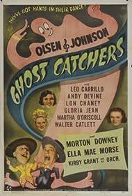 Gloria Jean, Chic Johnson, Ella Mae Morse, Martha O'Driscoll, and Ole Olsen in Ghost Catchers (1944)