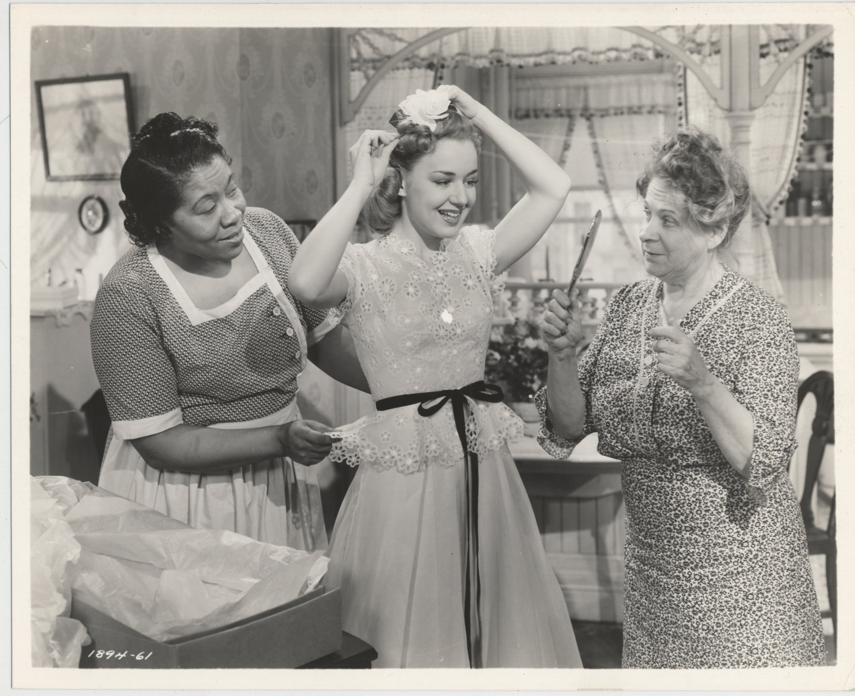 Maude Eburne, Lillian Randolph, and Anne Shirley in West Point Widow (1941)