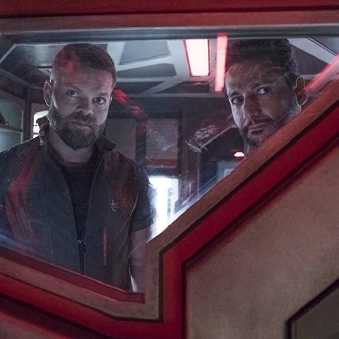 Cas Anvar and Wes Chatham in The Expanse (2015)
