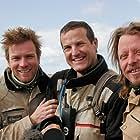 Ewan McGregor, Charley Boorman, and Claudio von Planta in Long Way Round (2004)