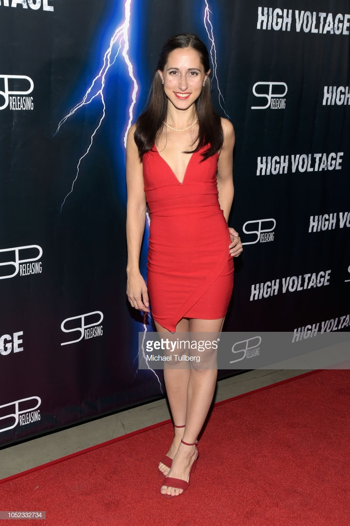 """Actress Christina Marie Leonard at the premiere of """"High Voltage"""""""