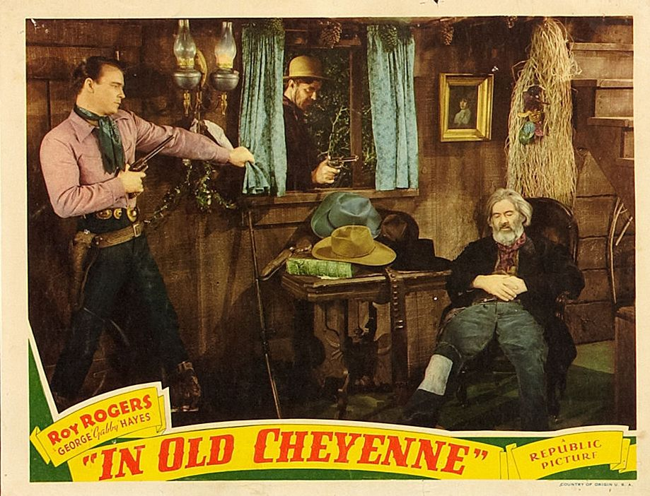 Roy Rogers, George 'Gabby' Hayes, and Hal Taliaferro in In Old Cheyenne (1941)