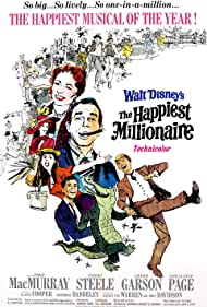 Lesley Ann Warren, Greer Garson, Hermione Baddeley, Gladys Cooper, John Davidson, Fred MacMurray, Geraldine Page, and Tommy Steele in The Happiest Millionaire (1967)