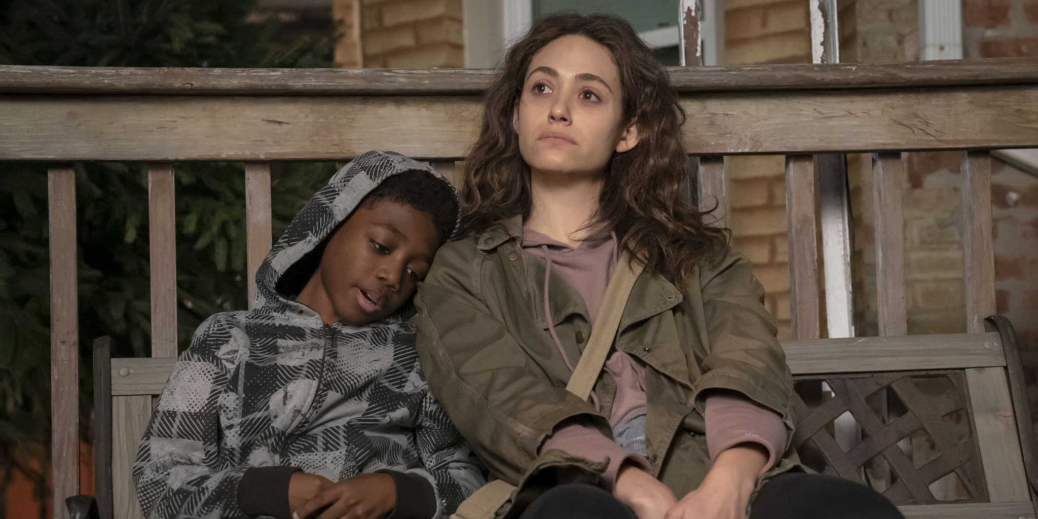 Emmy Rossum and Christian Isaiah in Shameless (2011)