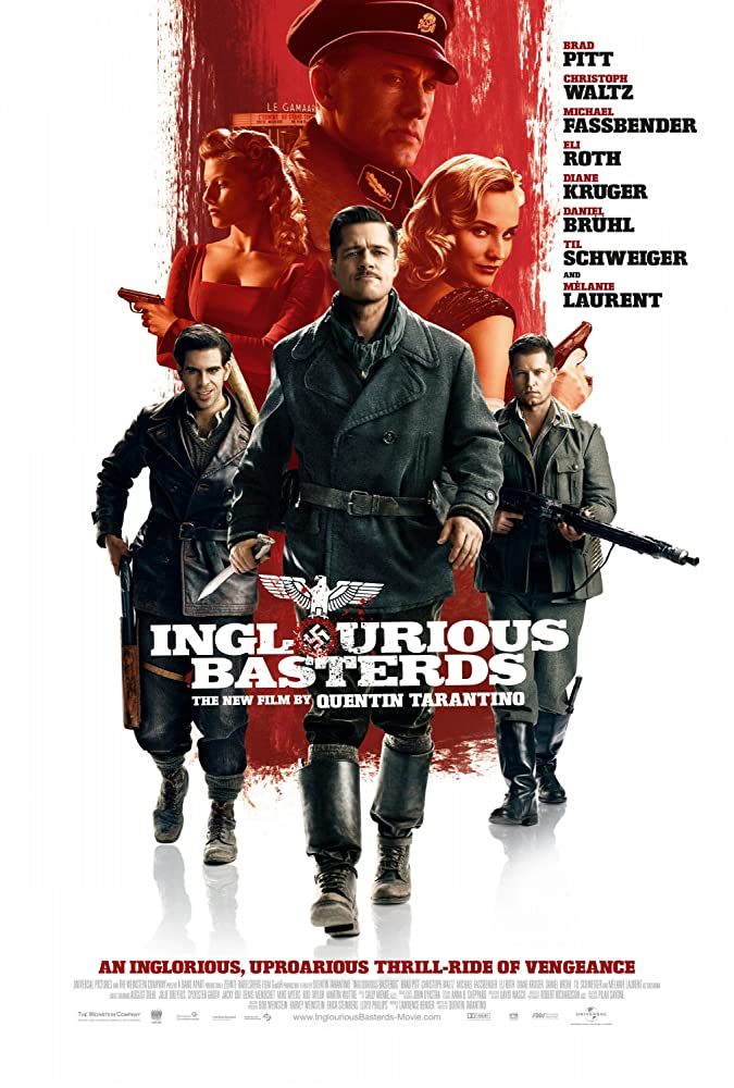 Brad Pitt, Til Schweiger, Mélanie Laurent, Eli Roth, Christoph Waltz, and Diane Kruger in Inglourious Basterds (2009)