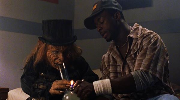 Warwick Davis and Victor Togunde in Leprechaun: Back 2 tha Hood (2003)