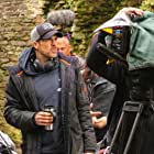 Giles Alderson on set of Knight of Camelot