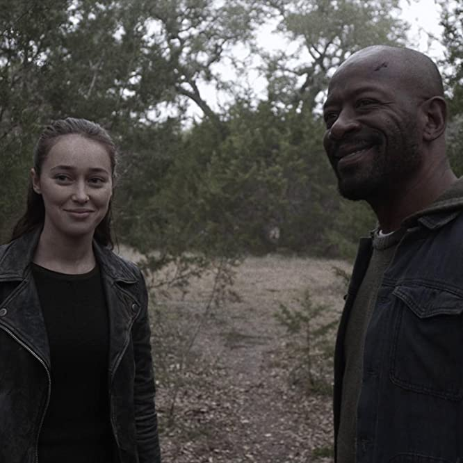 Lennie James and Alycia Debnam-Carey in Fear the Walking Dead (2015)