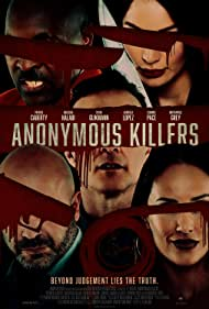 Kevin Glikmann, Dominic Pace, Gabriela Lopez, Patrick Caberty, and Natassia Halabi in Anonymous Killers (2020)