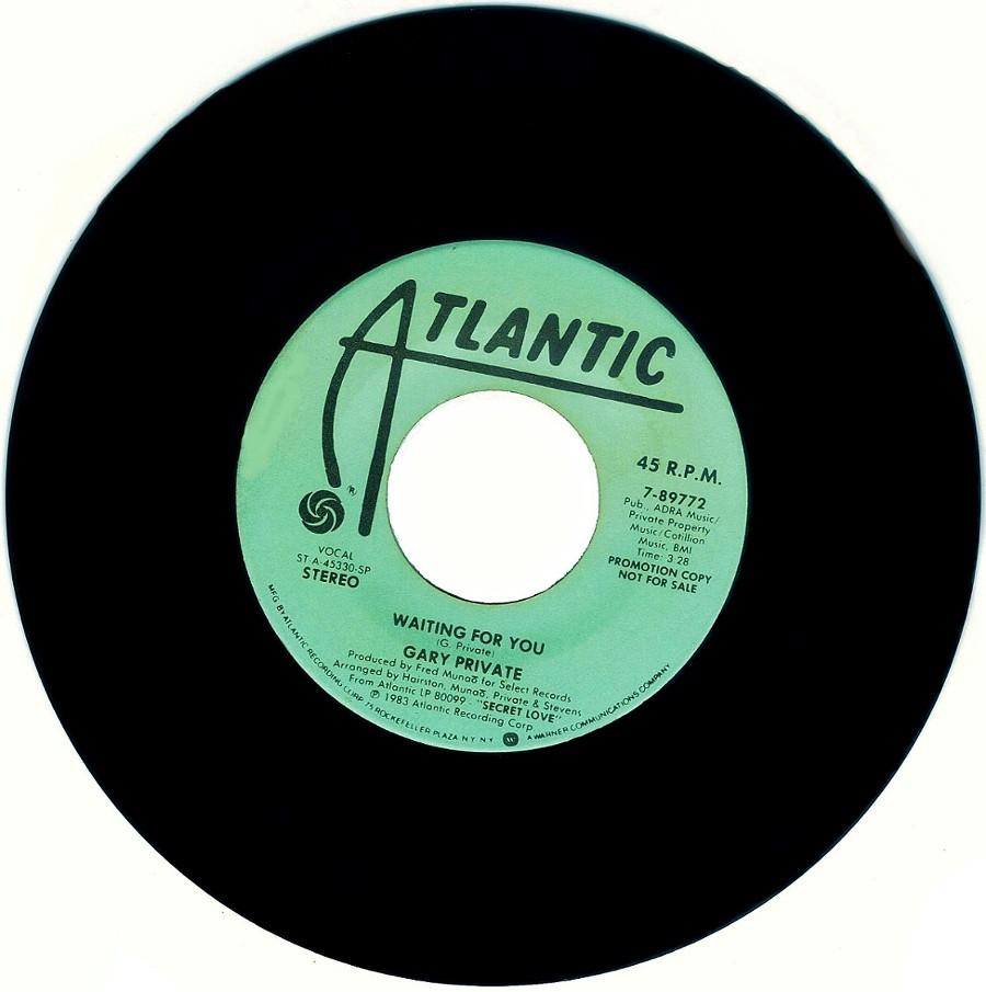 GARY PRIVATE Atlantic Records artist