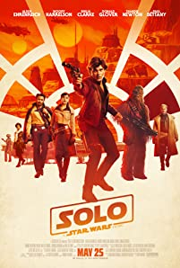 Woody Harrelson, Thandie Newton, Donald Glover, Alden Ehrenreich, Phoebe Waller-Bridge, Emilia Clarke, and Joonas Suotamo in Solo: A Star Wars Story (2018)
