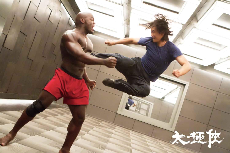 Tiger Hu Chen and Alain Ngalani in Man of Tai Chi (2013)