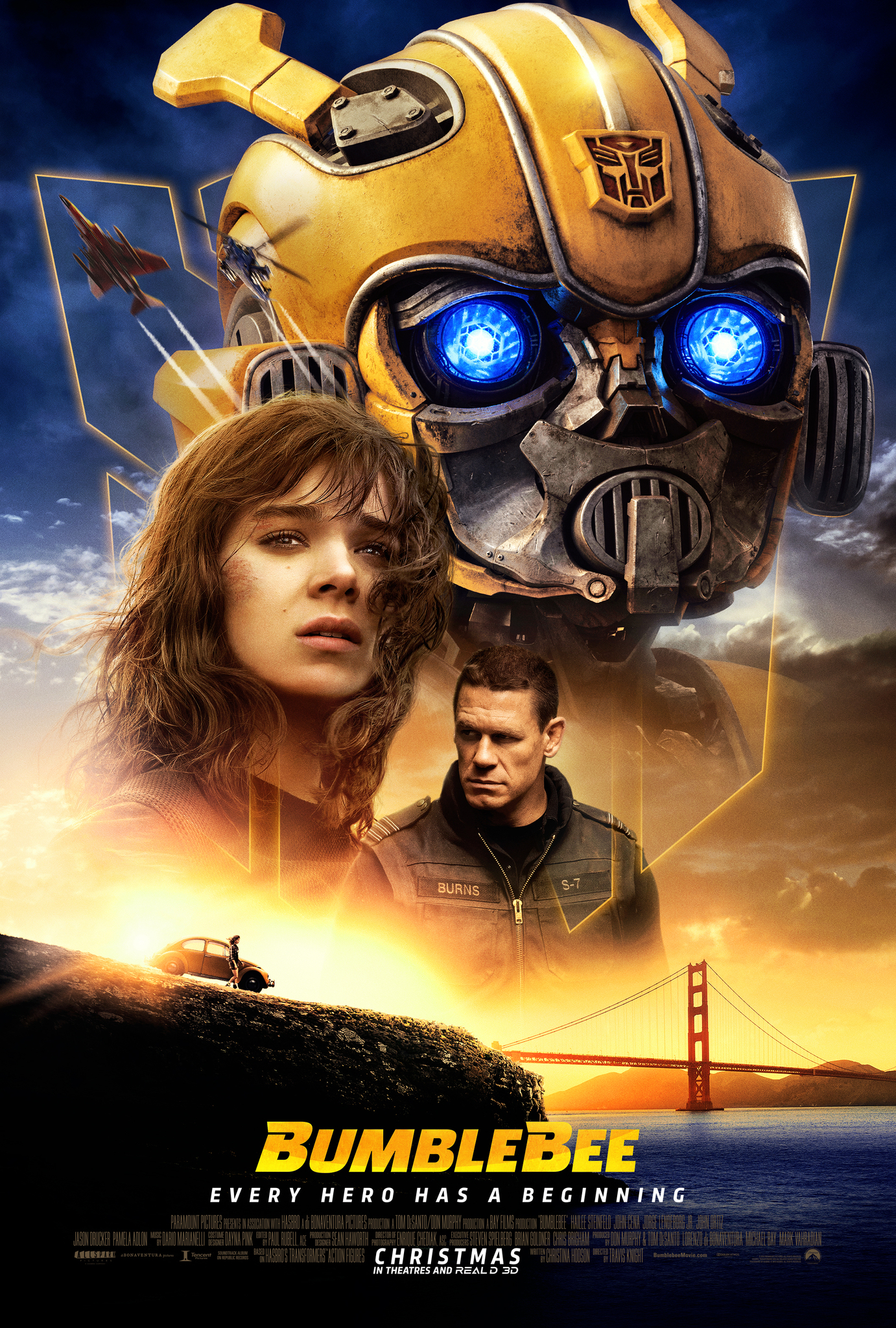 Image result for bumblebee movie poster