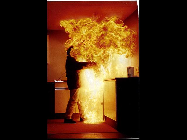 Marc Cass - Fire stunt