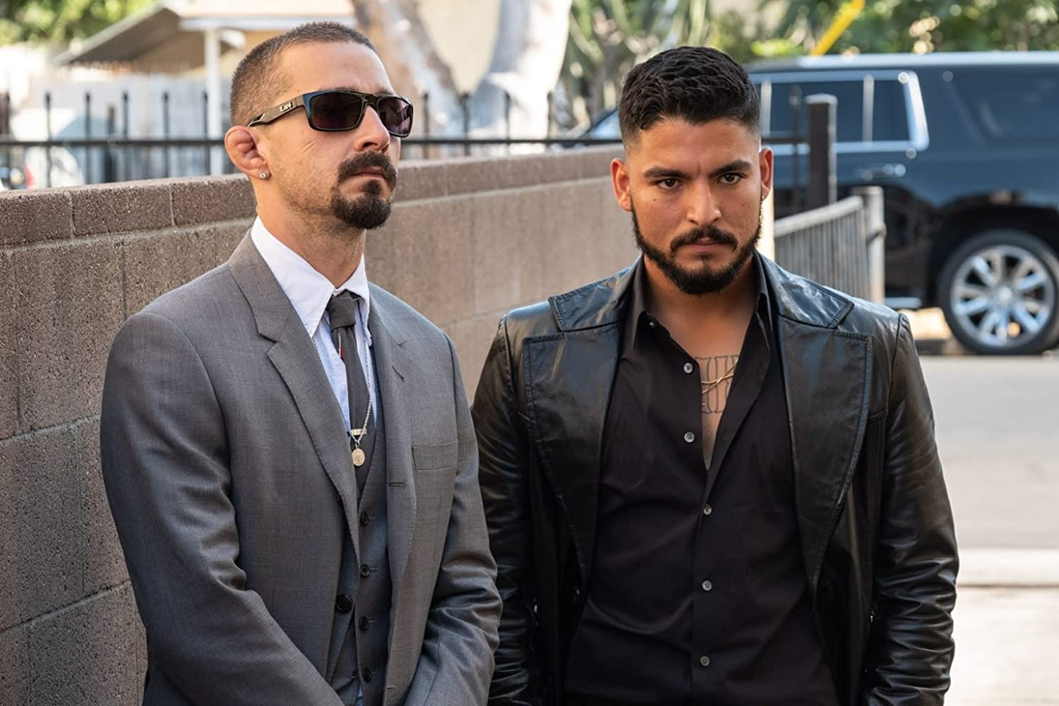 Shia LaBeouf and Bobby Soto in The Tax Collector (2020)
