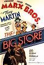 Groucho Marx, Douglass Dumbrille, Margaret Dumont, Virginia Grey, Tony Martin, Chico Marx, and Harpo Marx in The Big Store (1941)