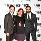 Ned Benson, James McAvoy, and Clare Stewart at an event for The Disappearance of Eleanor Rigby: Them (2014)