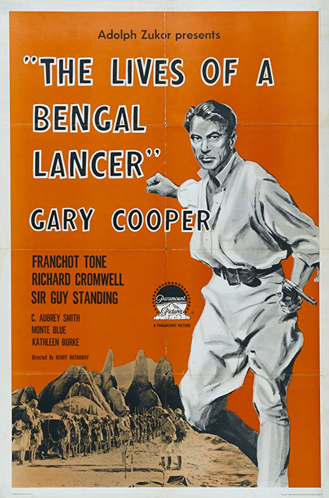 Gary Cooper in The Lives of a Bengal Lancer (1935)