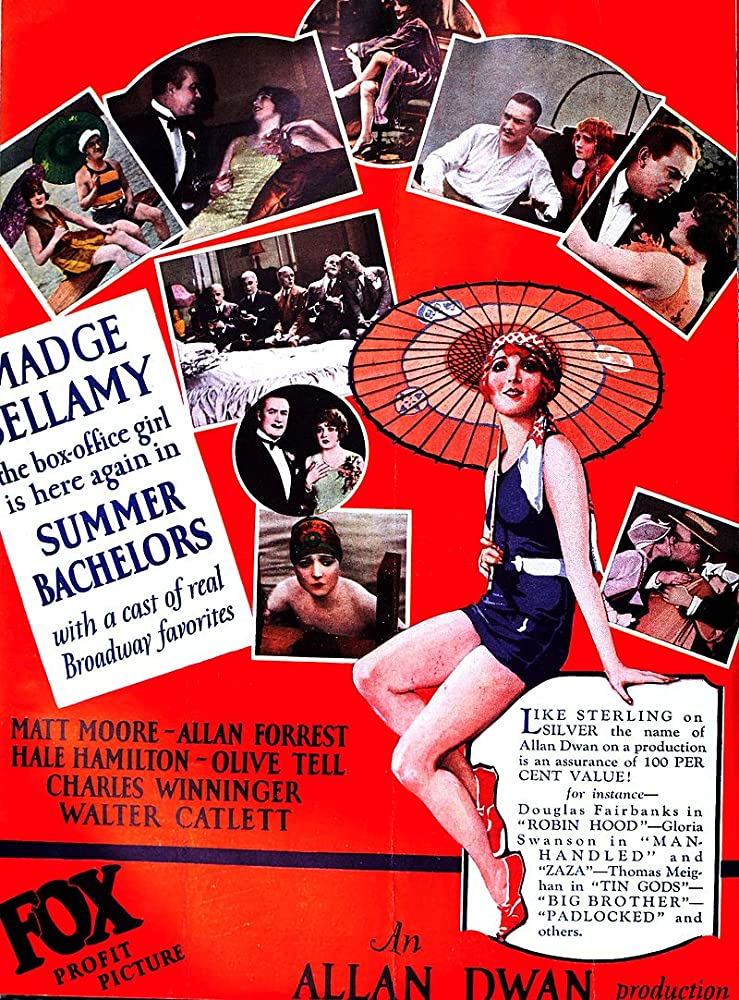 Allan Forrest, Hale Hamilton, Leila Hyams, Matt Moore, and Olive Tell in Summer Bachelors (1926)