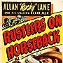 Allan Lane and Black Jack in Rustlers on Horseback (1950)