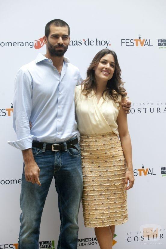 Adriana Ugarte and Rubén Cortada at an event for El tiempo entre costuras (2013)