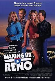 Charlize Theron, Patrick Swayze, Billy Bob Thornton, Natasha Richardson, and Panagiotis Golfis in Waking Up in Reno (2002)