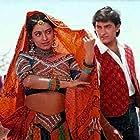 Juhi Chawla and Aamir Khan in Hum Hain Rahi Pyar Ke (1993)