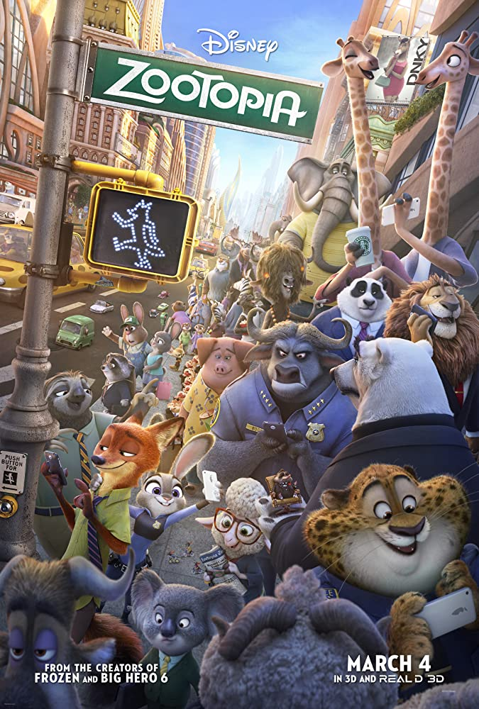 Zootopia 2016 Hindi ORG BluRay 480p Dual Audio 350MB ESubs