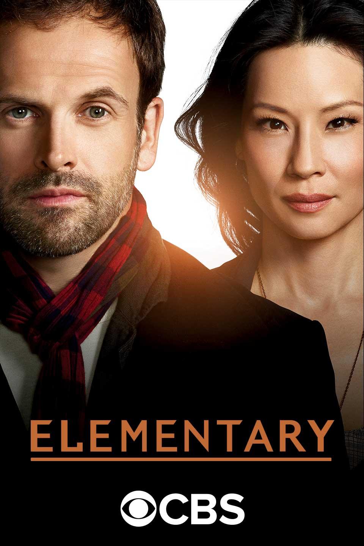 Jonny Lee Miller and Lucy Liu in Elementary (2012)