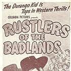 Carla Balenda and Charles Starrett in Rustlers of the Badlands (1945)