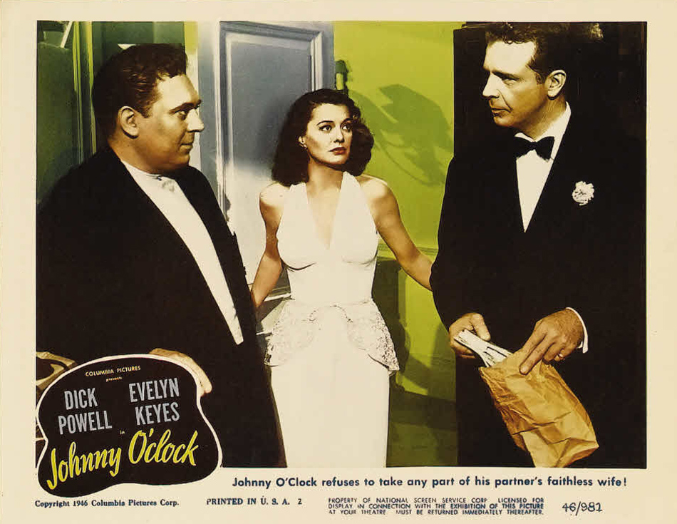 Ellen Drew, Thomas Gomez, and Dick Powell in Johnny O'Clock (1947)