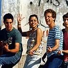 Vered Cohen, Omri Dolev, Yoav Tzafir, and Dor Zweigenboim in Blues Lahofesh Hagadol (1987)