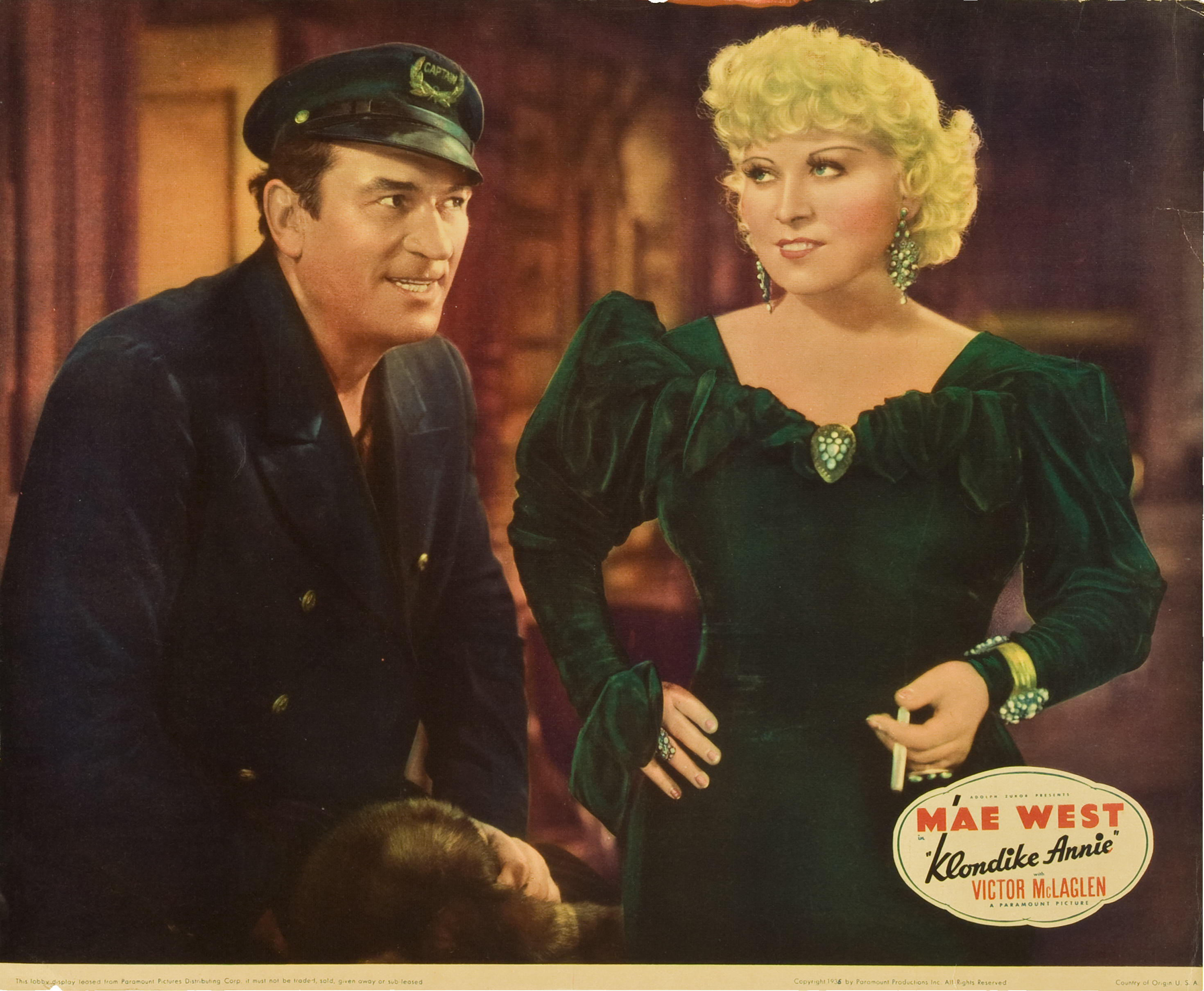 Victor McLaglen and Mae West in Klondike Annie (1936)