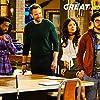 Joel McHale, Christopher Mintz-Plasse, Shaun J. Brown, and Christine Ko in The Great Indoors (2016)