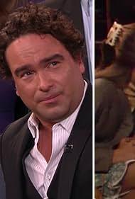 Mayim Bialik and Johnny Galecki in Conan (2010)