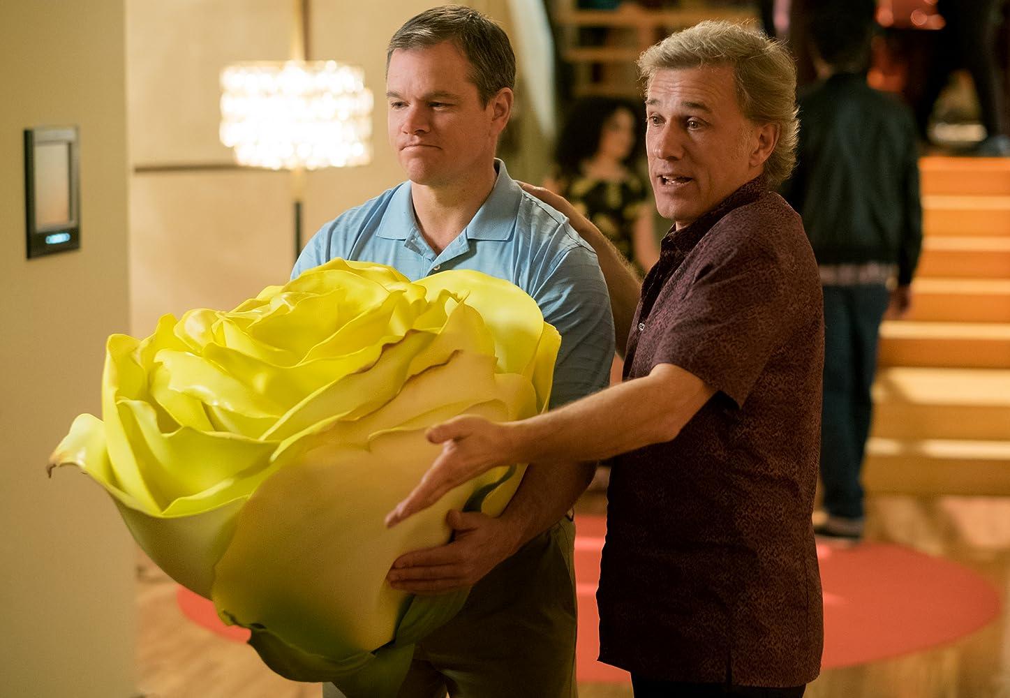 Matt Damon and Christoph Waltz in Downsizing (2017)