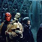 Ron Perlman, Jeffrey Tambor, and Brian Caspe in Hellboy (2004)