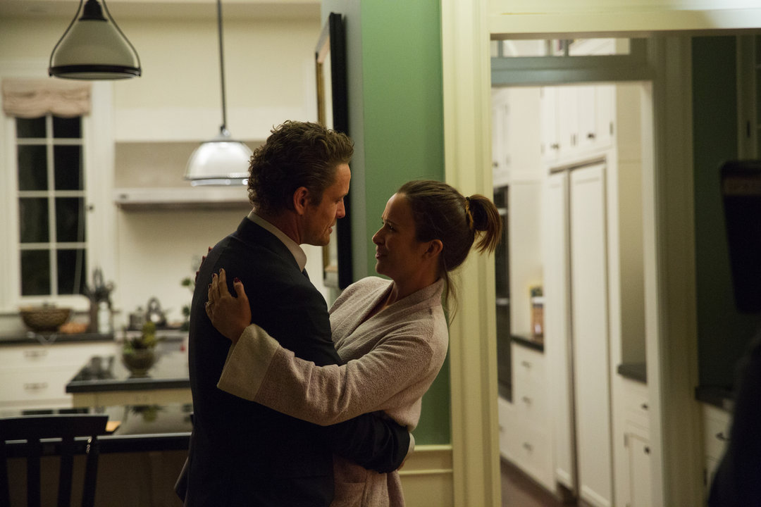 Claire van der Boom and David Lyons in Game of Silence