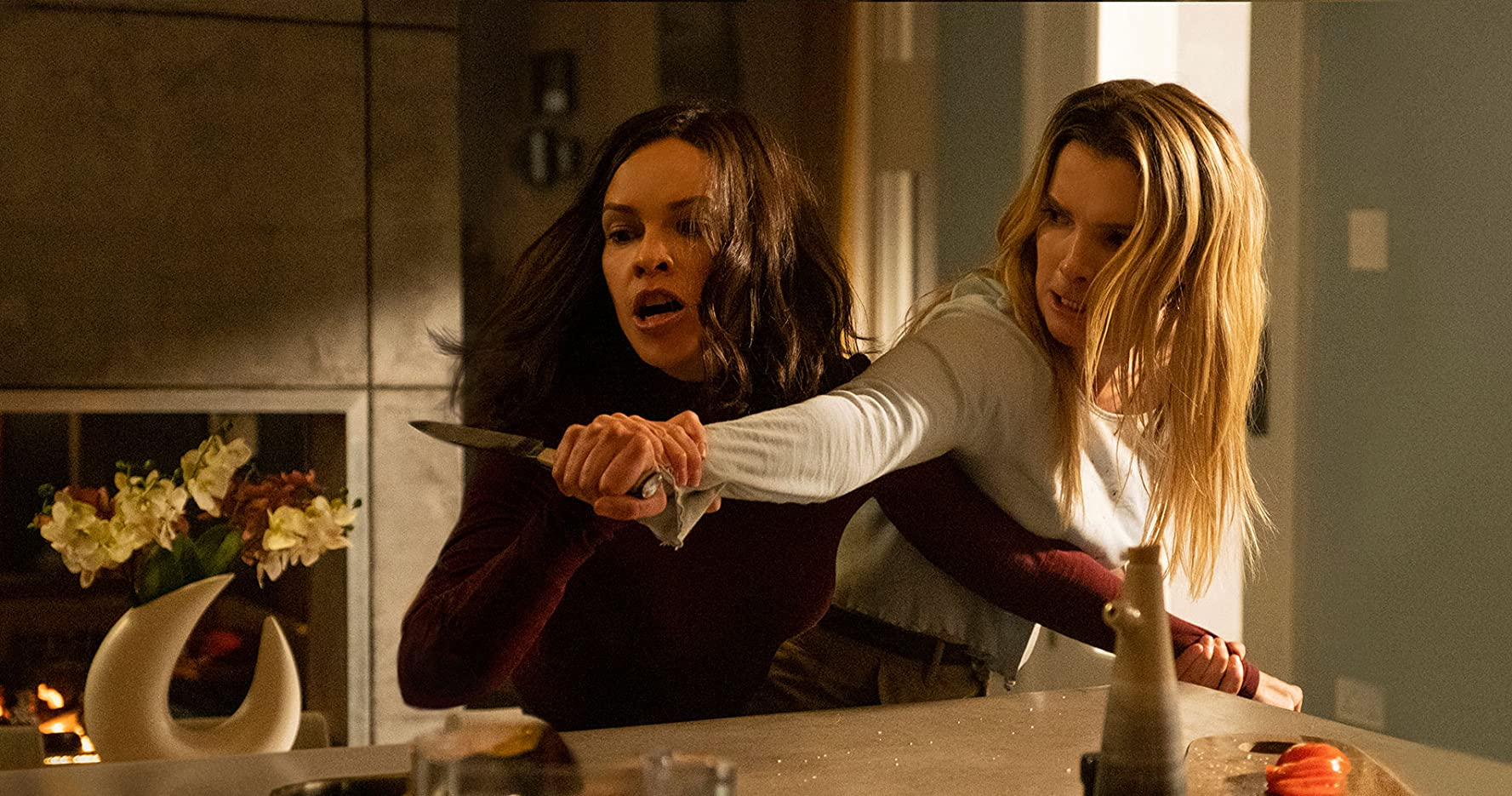 Hilary Swank and Betty Gilpin in The Hunt (2020)