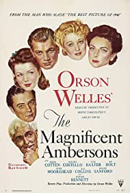 Anne Baxter, Joseph Cotten, Agnes Moorehead, Ray Collins, Dolores Costello, and Tim Holt in The Magnificent Ambersons (1942)