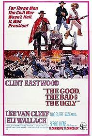 Clint Eastwood, Lee Van Cleef, and Eli Wallach in Il buono, il brutto, il cattivo (1966)