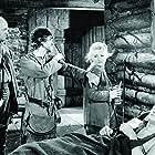 John Wayne, Wilfrid Lawson, Moroni Olsen, and Claire Trevor in Allegheny Uprising (1939)