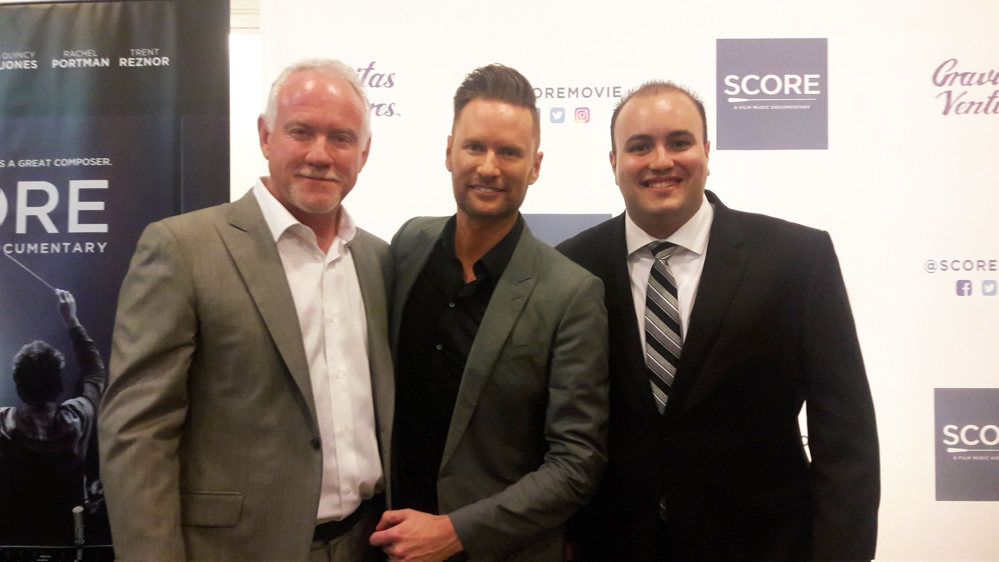 At the screening of SCORE, a documentary on film music with composers John Debney and Brian Tyler in Santa Monica