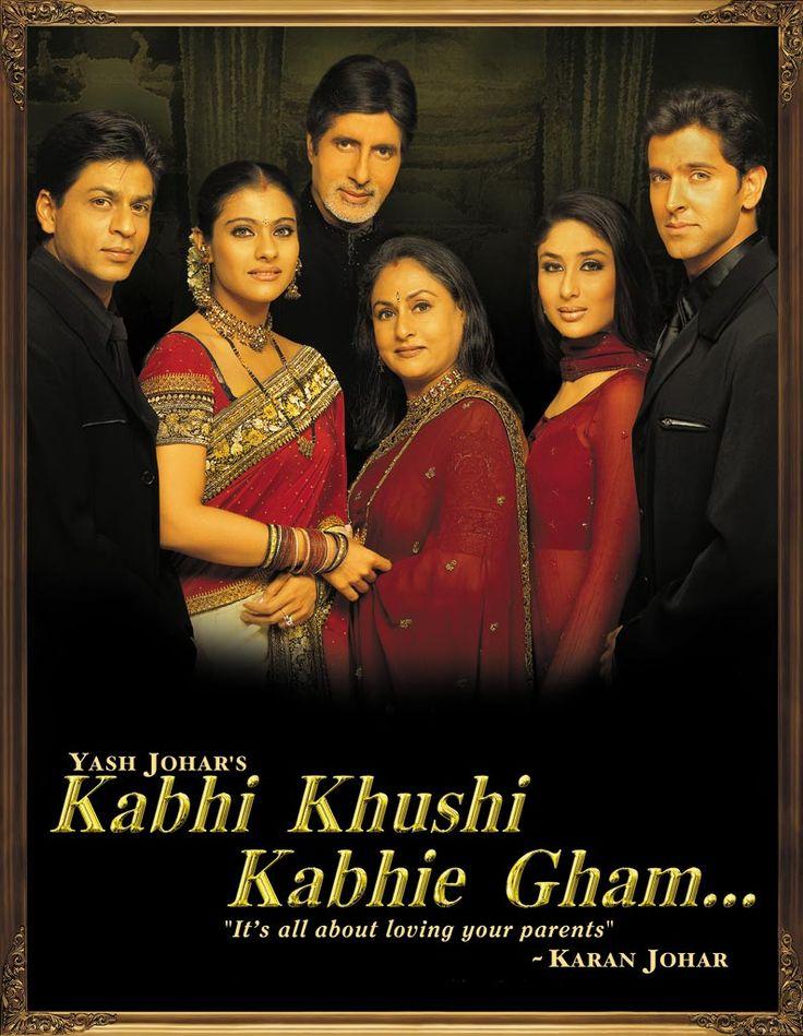 Amitabh Bachchan, Hrithik Roshan, Kajol, Kareena Kapoor, Jaya Bachchan, and Shah Rukh Khan in Kabhi Khushi Kabhie Gham... (2001)