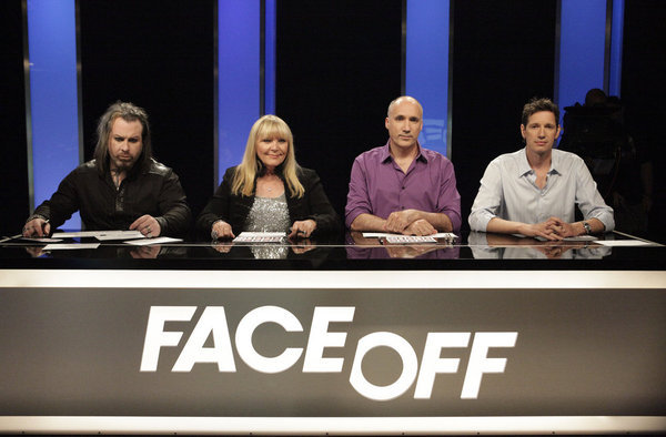 Glenn Hetrick, Ve Neill, and Neville Page in Face Off (2011)