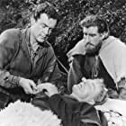 Nigel Green and Richard Greene in Sword of Sherwood Forest (1960)
