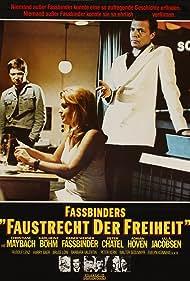 Rainer Werner Fassbinder, Karlheinz Böhm, and Christiane Maybach in Faustrecht der Freiheit (1975)